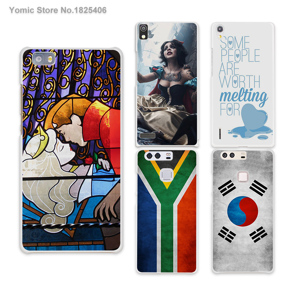 sleeping beauty stained glass hard White Skin phones Cases for HUAWEI Ascend P6 P7 P8 lite P9 honor 6 7 8 mate s 7 8