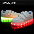 Tamaño 25-37 shoes usb con luz hasta chicos chicas casual led zapatillas shoes for kids led luminosos zapatillas de zapatos brillantes Enfant