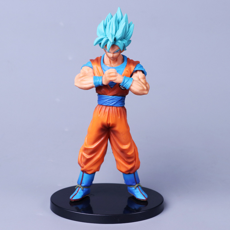 Anime Dragon Ball Super Z Saiyan Blue Son Goku Fist Ver PVC Action Figure Collectible Model doll toy 18cm
