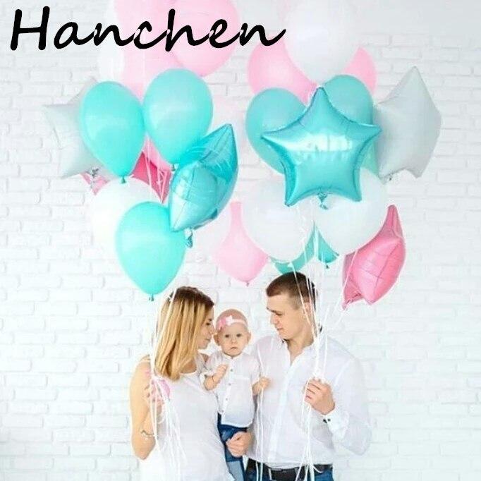 13 Stks Partij 10 Inch Tiffany Blauw Roze Latex Ballonnen 18 Inch