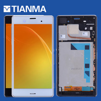 Tested 5 2 1920x1080 IPS For SONY Xperia Z3 LCD Display With Touch Screen For SONY
