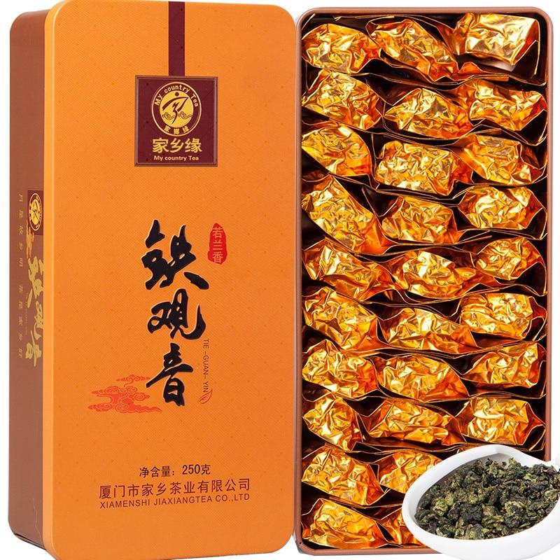 2pcs/lot High Quality Tea Anxi Tie Guan Yin Cha Natural Green Oolong Cha China Cha Leaf Green Food 500g (250g/bag)