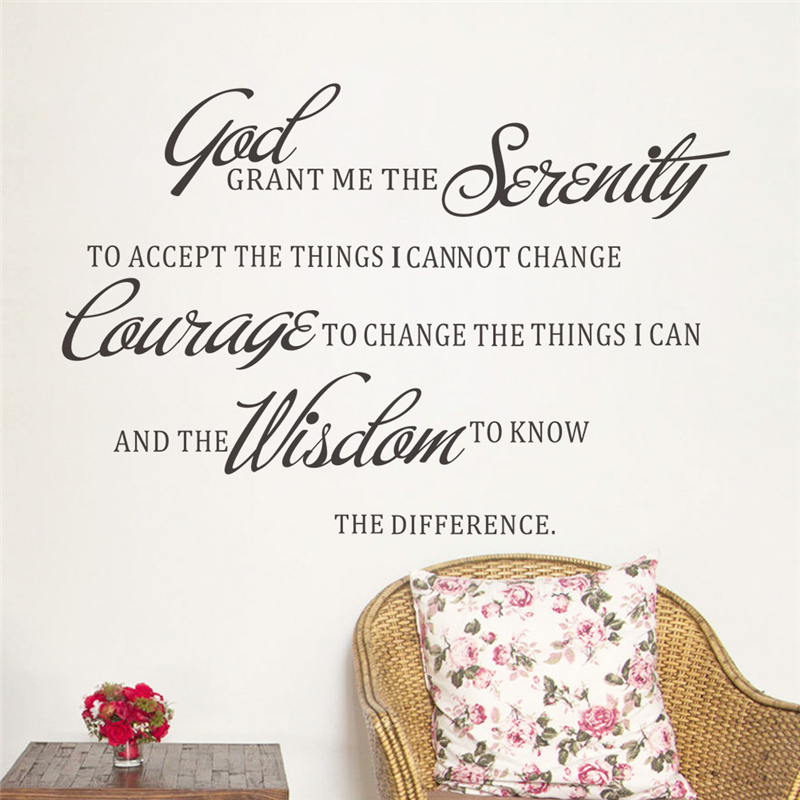 courage to change the things i can inspirational vinyl wall stickers quotes living room wall art decor diy decals