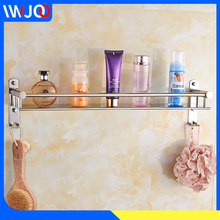 Bathroom Shelf Organizer Stainless Steel Corner Storage Holder Shelves Wall Mounted Toilet Shower Shampoo Cosmetic Rack 2 Hooks цена и фото