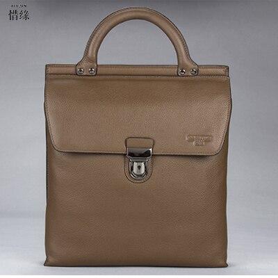 XIYUAN BRAND Men's Messenger hand Bags 100% Natural Genuine Leather Handbags Famous Brand Men Fashion Casual Shoulder hand Bag