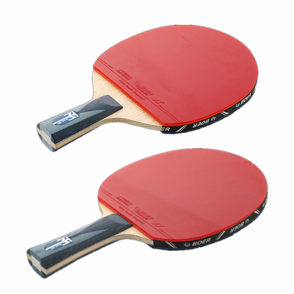boer 1pcs table tennis racket fast attack rubber carbon fiber short long handle ping pong. Black Bedroom Furniture Sets. Home Design Ideas