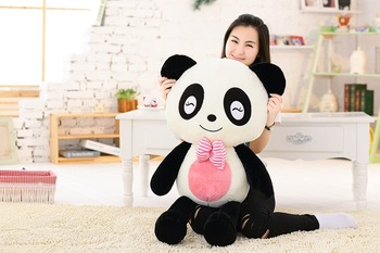 stuffed plush toy huge 120cm squinting eyes giant panda soft hugging pillow toy birthday gift s2833