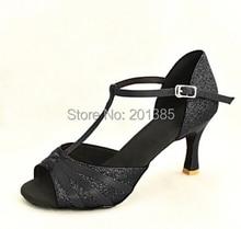 Wholesale Ladies Girls Black Glitter Ballroom Latin Samba Salsa Ceroc Tango Dance Shoes All Size