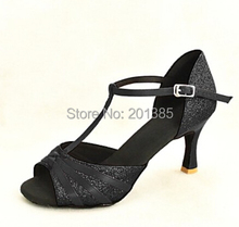 Wholesale Ladies Girls Black Glitter Ballroom Latin Samba Salsa Ceroc Tango Dance Shoes All Size