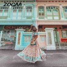ZOGAA Bohemian Women Summer Long Dress Ladies Elegant Floral Print Ruffles Beach Evening Party Night Plus Size Vestidos 2019 цена