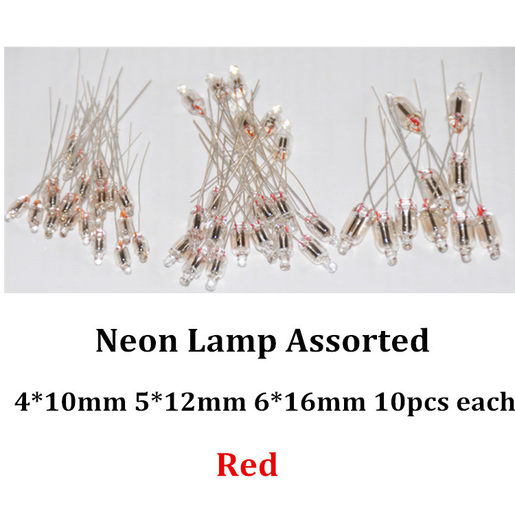 20pcs Neon Indicator Light Blue Signs 6mm Azul Neon Bulb Lamp Glow 2 Copper Wire Ne-2 6x13mm Blue Neon Indicator Bulb Lampada Active Components Diodes