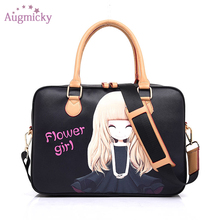 Waterproof PU leather laptop Messenger Tablet Sleeve 131415 inch for women girl Fashion notebook  Shoulder Carry bag