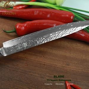 "Image 3 - YARENH 8 ""meat Cleaver พร้อม Micarta Handle มีดครัวญี่ปุ่นดามัสกัสเหล็กมีดซาชิมิมีดทำอาหารจัดส่งฟรี"