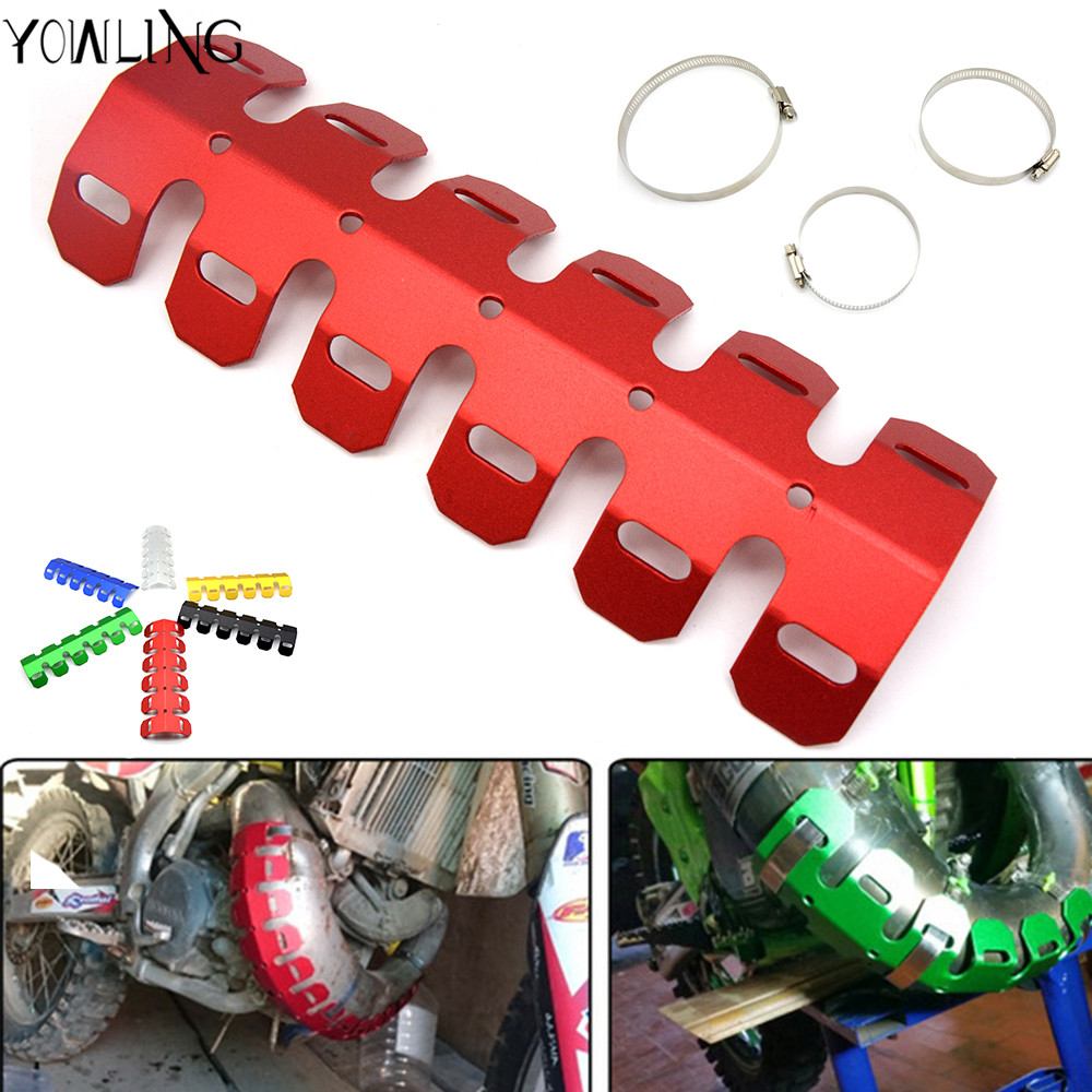 Red Motorcycle Exhaust Heat Shield Pipe Protector Cover For KTM