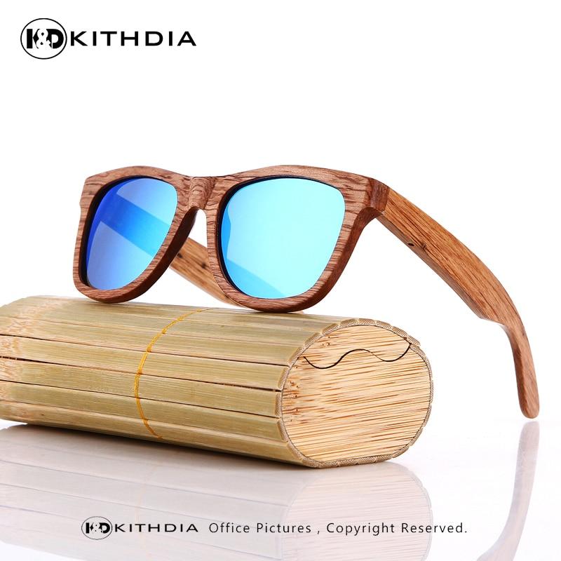 350251f1f9d KITHDIA Natural Wooden Sunglasses Bamboo Brand Sun Glasses Vintage Wood  Case Beach Polarized Sunglasses for Driving gafas de sol