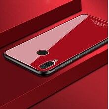 Tempered glass Case for Huawei Nova 3 Nova3 Mirror Surface Glass Back Cover Hard Soft Bumper