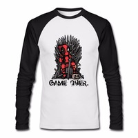 Deadpool Vs Game Of Thrones Men S Long Sleeve T Shirts Harajuku New Fashion Brand Tops