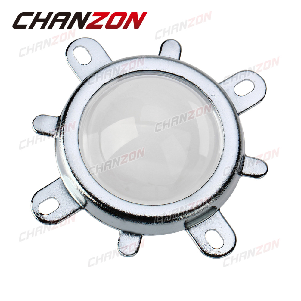 Fixed Bracket Glass Lens Three-Piece Reflector Collimator 44mm Optical Glass LED Lens