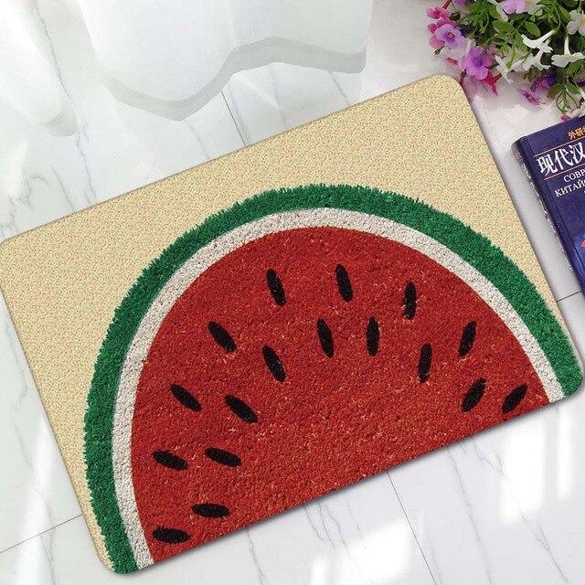 Elegant Watermelon Pineapple Fruit Printed Rubber Doormat Non Slip Kitchen Carpet  Bath Mat Home Entrance Floor