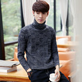 Autumn and winter downneck men's casual young Korean students bottoming sweaters sweater coat thickness