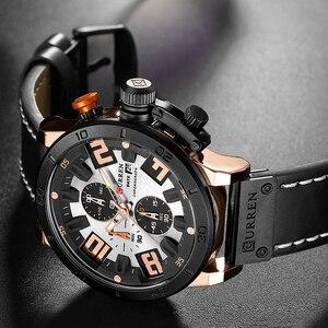 Image 5 - 2019 CURREN Chronograaf Mannen Horloges Top Luxe Merk Mode Quartz Horloge Heren Outdoor Sport Leger Klok Relogio Masculino
