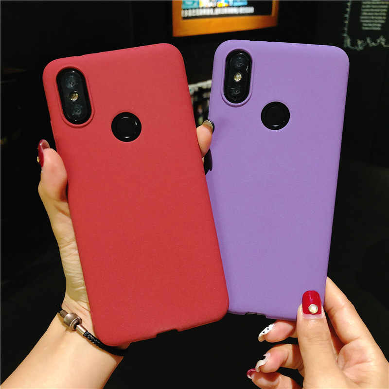 Matte Areia Caso Texture TPU Para XiaoMi 8 SE Nota 2 3 Max MIX 6 5X 6X Fundas Capa de Silicone a1 A2 5C 4 4C 5S Plus Phone Cases
