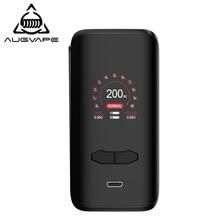 Augvape VX200 Box Mod 200w Temperature Control 1.3 Inch Display Dual 18650 Battery Large Fire Button Electronic Cigarette Mods ijoy asolo 200w temperature control box mod color random