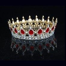 Sparkling Crystal Vintage Baroque Queen King Crown For Women Prom Bridal Tiara Crowns Wedding Bride Hair
