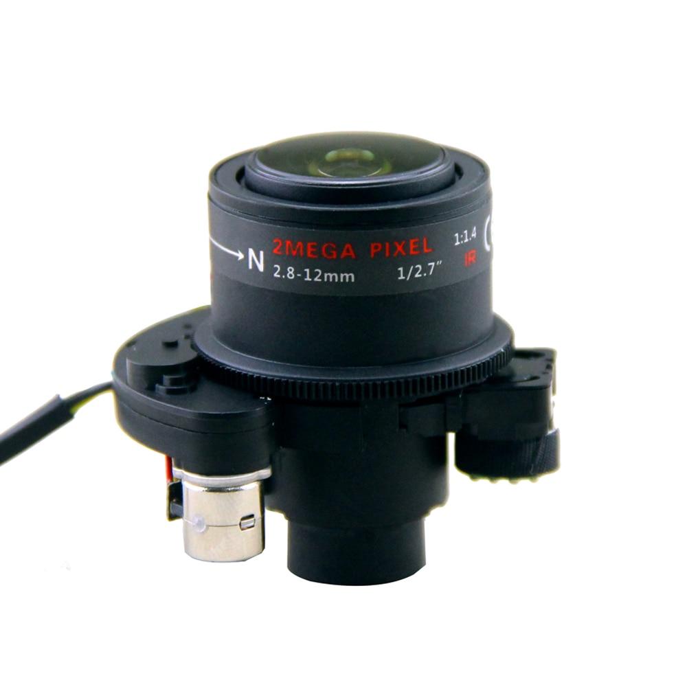 купить cctv 2.8-12mm DC Iris Motorized lens for ip cameras, camera ir lens 2 mega pixel 1/2.7 for cctv camera stepping motor недорого