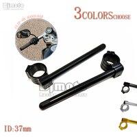 High Quality Black Universal Motorcycle CNC 37mm Clip Ons Handlebars Aluminum Clipon Fork Handle Bars For