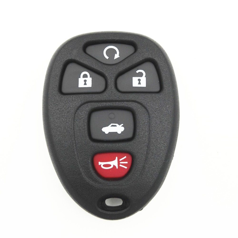 5 Buttons Car Remote Fob Cover Case Replacement Key Blank Shell Housing Buick LaCrosse GMC Chevrolet Pontiac Grand Prix - CAR KEY FACTORY store
