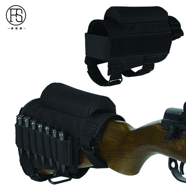 Nylon Tactical Nylon Buttstock Pouch Hunting Shooting Game Rifle Accessories Cheek Shell Cartridges Holder Carrier 6