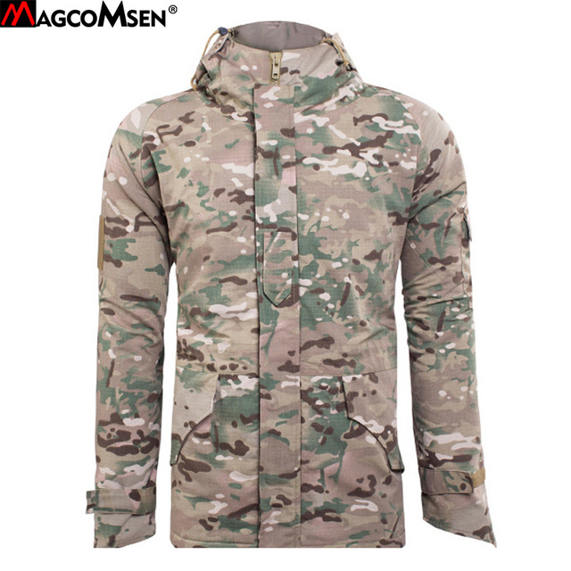 e28fa18f4fb11 MAGCOMSEN G8 Man Army Camouflage Fleece Coat Military Hooded Jacket  Waterproof Windbreaker Clothes Tactical Jacket Men AG-PLY-08
