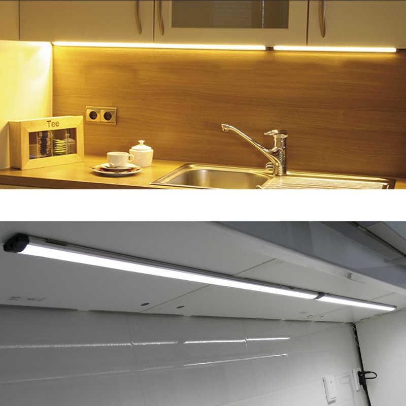 24 В DC 3 Вт 5 Вт 30 см 50 см алюминиевый кухонный свет тонкие лампы шайба Свет Шланг для ванной комнаты светодиодный под освещением шкафа
