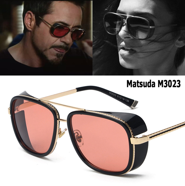 6533d61741 JackJad 2018 moda IRON MAN 3 Matsuda RAY TONY estilo SteamPunk gafas De sol  hombres mujeres