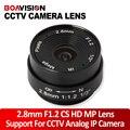 2.8 MM Lente Gran Angular de 120 Grados Soporte CS Monte CCTV Lente de La Cámara Domo CCTV IP Cámara Analógica