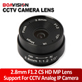 2.8MM Lens Wide Angle 120 Degree CCTV Camera Lens Dome CS Mount Support CCTV IP Analog Camera