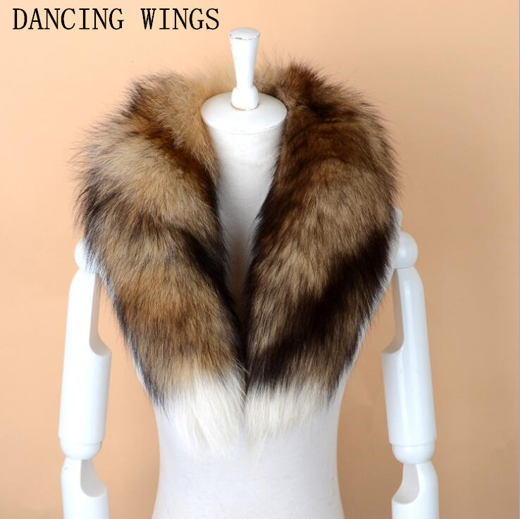 Men Women Genuine Fox Fur   Scarf   100% Real Natural Fox Fur Collar   Scarves     Wraps   Good Quality Fur Ring Muffler