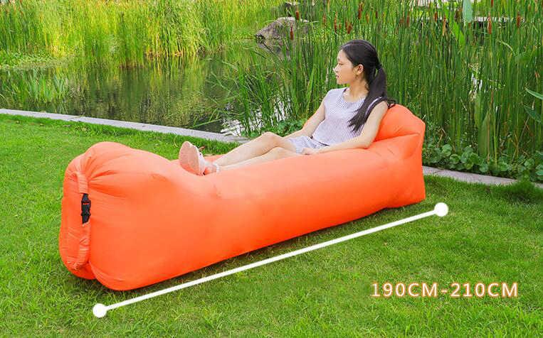 Produtos ao ar livre Rápida Infaltable Sofá Cama de Ar de Boa Qualidade Saco de Dormir Inflável Air Bag saco de Praia Sofá Preguiçoso Laybag