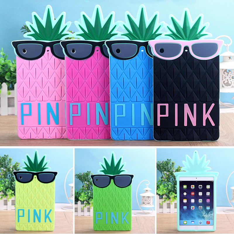 c8d6d99ea7e66 US $19.99 |Tablette Tablet PC for Apple iPad mini 3 2 1 Silicon Victoria's  Secret PINK 3D Glasses Pineapple protective back cover case-in Tablets & ...