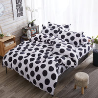 Black And White Geometric Stripes Modern Three Piece Bedding Set 1 Luxury Bedding Quilt Cover 2