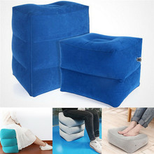 Brand New Inflatable Foot Rest Travel Air Pillow Office Home Leg Up Footrest Relax Pad Plane Train Recliner цена