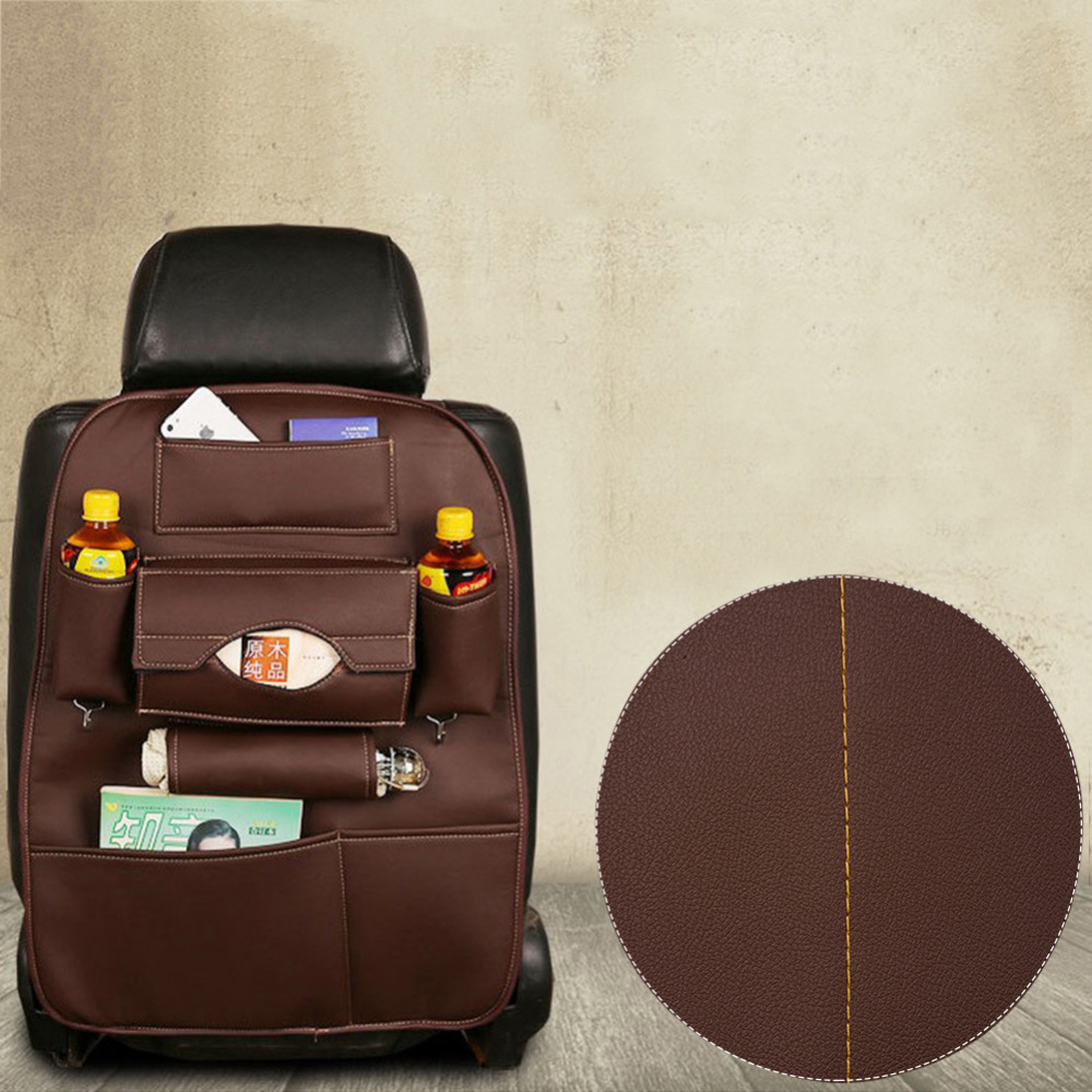 Auto Back Car Seat Organizer Holder Multi Pocket Travel Storage Hanging Bag Diaper Bag Baby Kids Car Seat Ipad Hanging Bag Black