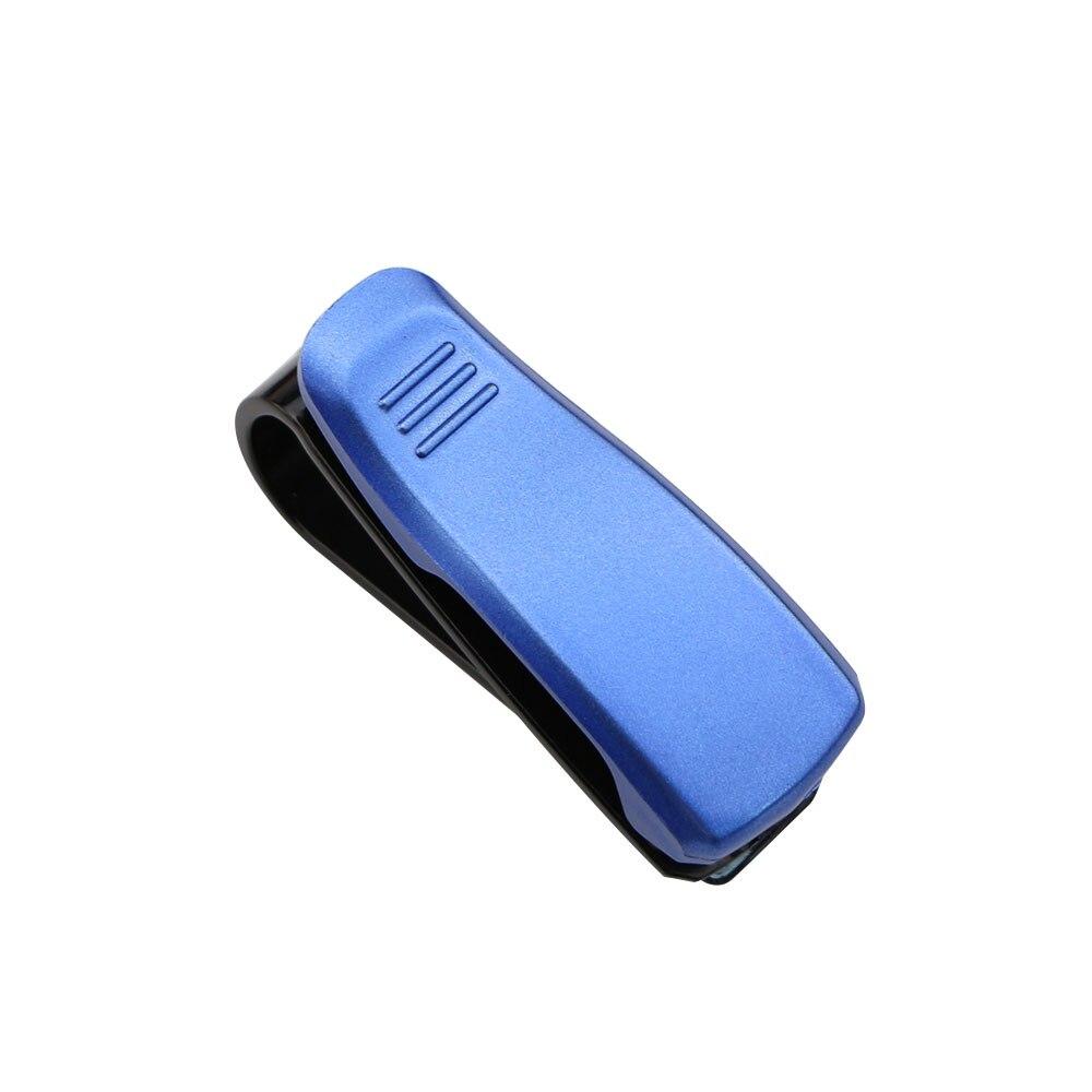 Горячая Авто крепежный зажим авто аксессуары ABS автомобиль солнцезащитный козырек солнечные очки, очки держатель зажим для билета - Название цвета: Blue