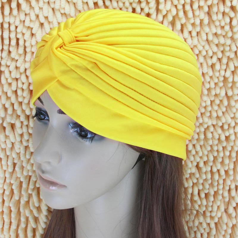 Indian Style Stretchable Yoga Hat Turban Headwrap Hair Head Wrap Cap Lady women hair accessorice skullies 2017 fashion new arrival indian yoga turban hat ear cap sleeve head cap hat men and women multicolor fold 1866688