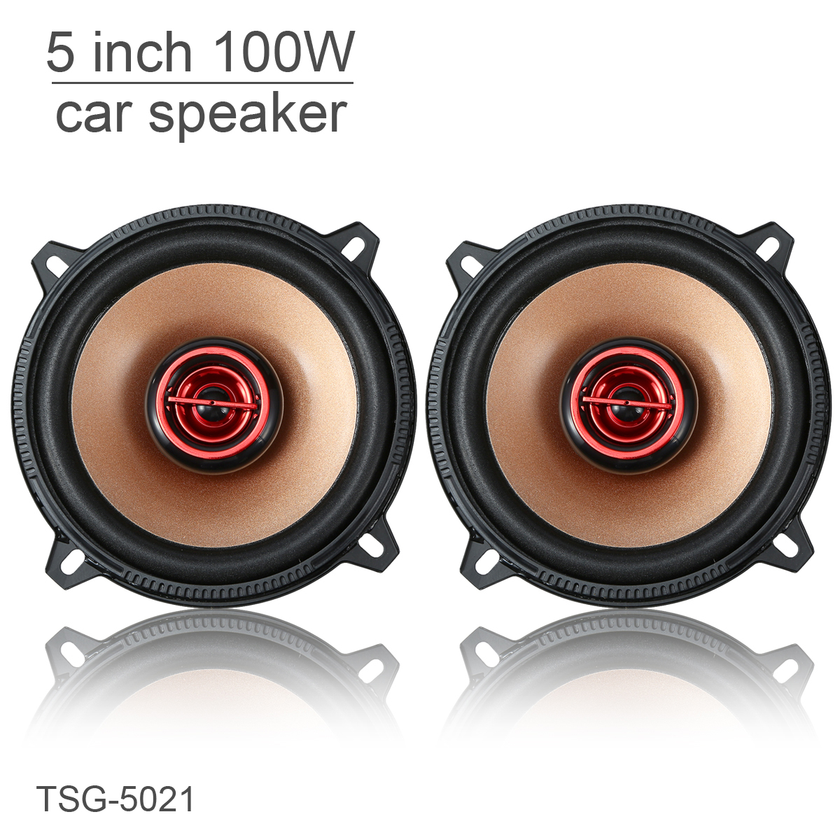 2pcs 5 Inch 100W Coaxial Full Range Frequency Car Audio Ster