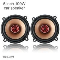 2pcs 5 Inch 100W Coaxial Full Range Frequency Car Audio Stereo Speaker Car Speaker Automobile Loudspeaker for Cars