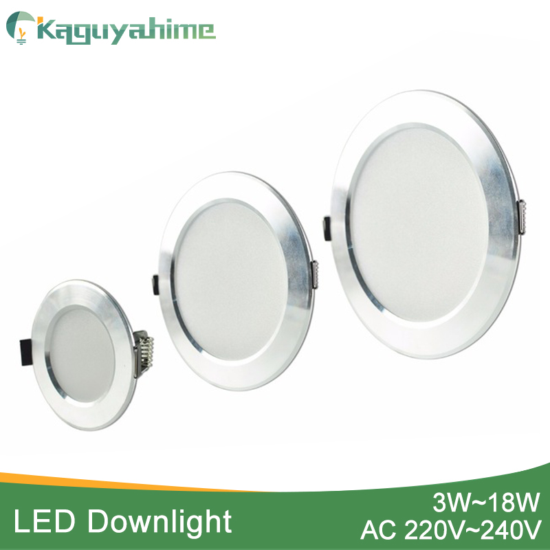 Kaguyahime 1pc/4pcs LED Panel Light 220V Spot Light Lamp Ultra Thin Recessed Downlight LED Indoor Lighting Kitchen 5W 9W 12W 18W
