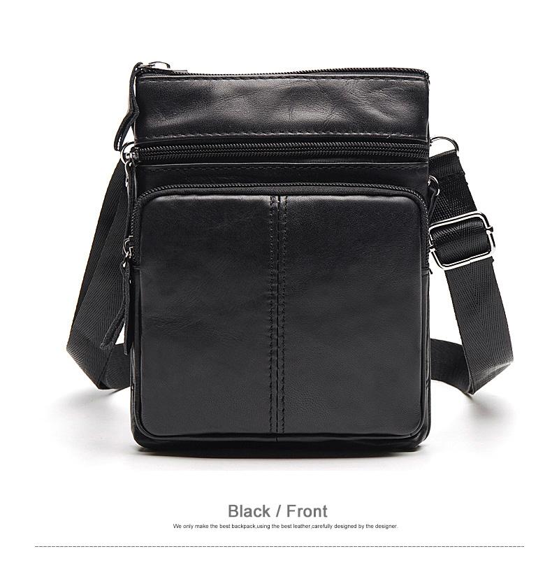 WESTAL Messenger Bag Men's Shoulder Genuine Leather bags Flap Small male man Crossbody bags for men natural Leather bag M701 11