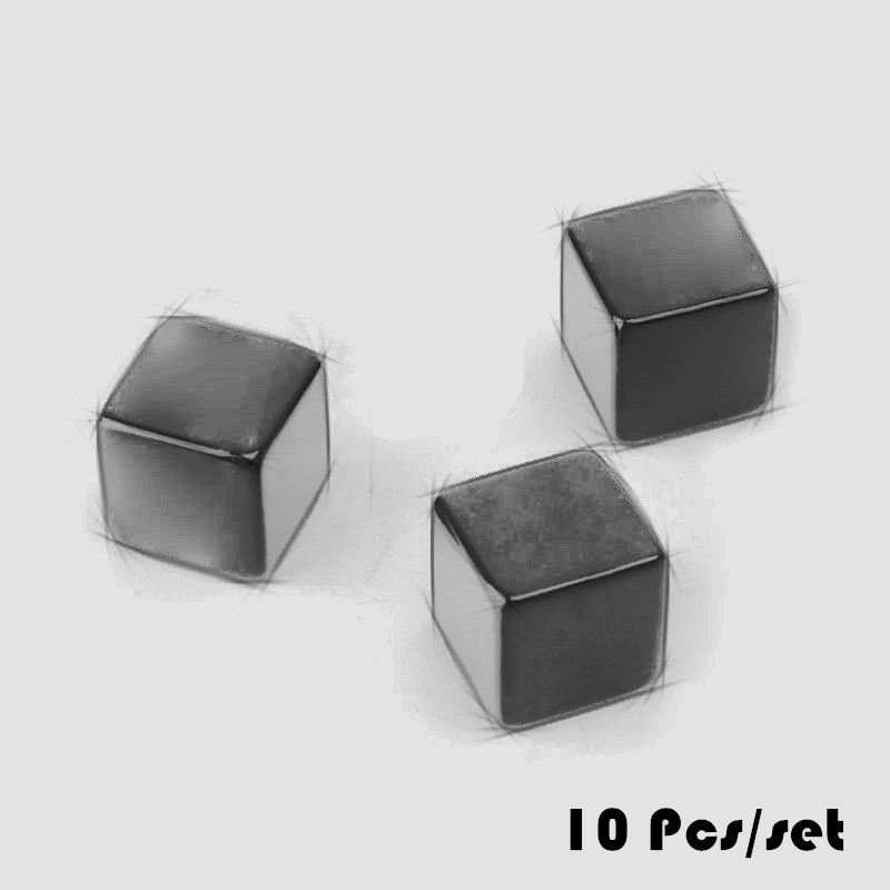 10pcs <font><b>16mm</b></font> <font><b>Blank</b></font> <font><b>Dice</b></font> Black Acrylic Cube Board Game Kid Toy DIY Fun And Teaching Table Board Games Accessories image